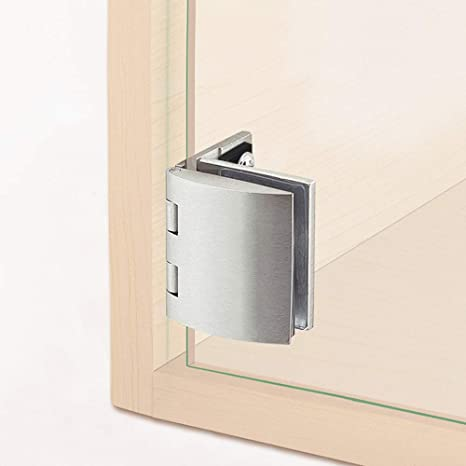 Chrome-plated Glass Door Hinge Cupboard Cabinet Gate Clamp Furniture Hardware