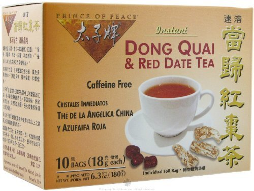 Prince of Peace Dong Quai & Red Date Instant Tea 10 tea bags (Pack of 8)
