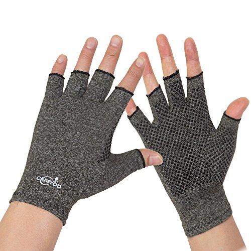Fingerless Compression Arthritis Gloves- Non-Slip Open Finger Hand Gloves for Rheumatoid Osteoarthritis,Joint Pain Relief,Computer Typing, Daily Work -Unisex Men Women – DiZiSports Store