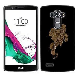 // PHONE CASE GIFT // Duro Estuche protector PC Cáscara Plástico Carcasa Funda Hard Protective Case for LG G4 / Floral Woman /