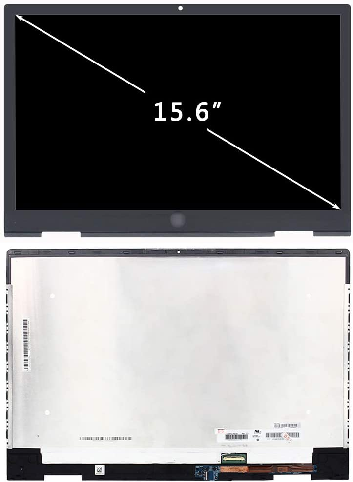FirstLCD LCD Touch Screen Replacement L53868-001 for HP Envy X360 15M-DS0011DX 15M-DS0012DX 15M-DS0023DX 15-DS0003CA 15-DS0013CA 15-DS0013NR Digitizer Display Assembly Bezel FHD 15.6