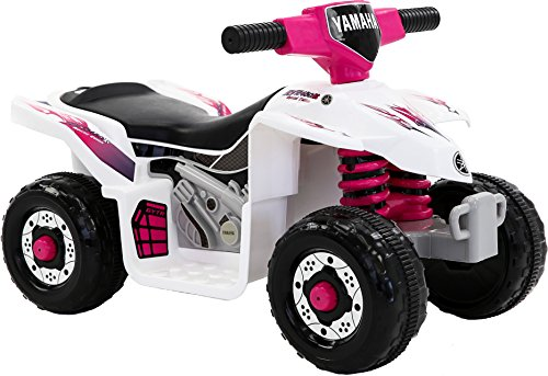Yamaha Atv Batteries - Yamaha Kids YFZ450R ATV 6V Battery Powered Ride-on Quad, White/Pink