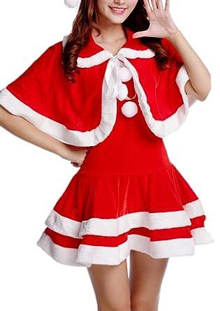 Hibasing Mujeres Vestido De Papá Noel De Navidad Atractivo De ...