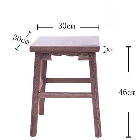 Surprising Amazon Com B Ydcm Wooden Bench Stool Small Square Stool Inzonedesignstudio Interior Chair Design Inzonedesignstudiocom