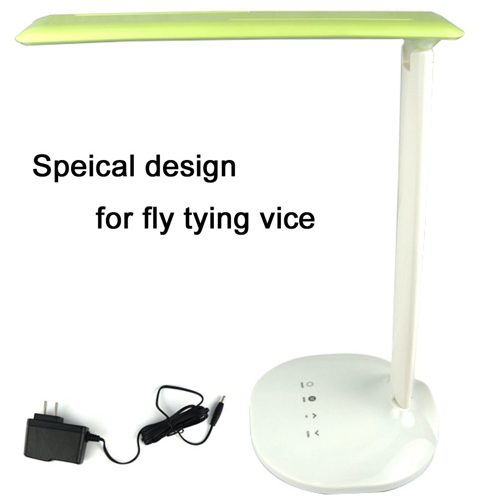 Aventik Dimmer-able LED Fly Tying Light Fold-able Desk Lamps, Natural Light, Healthy, Flicker-Free Comfortable Tying Smallest Flies, 3 Lighting Models, 5 Level Brightness