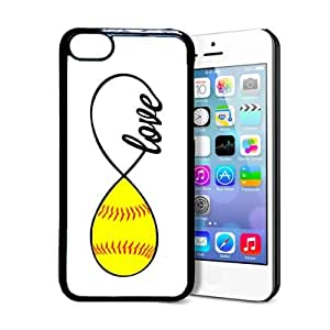 SudysAccessories Softball Love Softball Infinity Love Thinshell Case Protective iPhone 5C Case