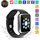 Bluetooth Smart Watch - WJPILIS Touch Screen Smartwatch Smart Wrist Watch Phone Fitness Tracker SIM TF Card Slot Camera Pedometer iOS iPhone Android Samsung LG Women Men Kids (Silver2)