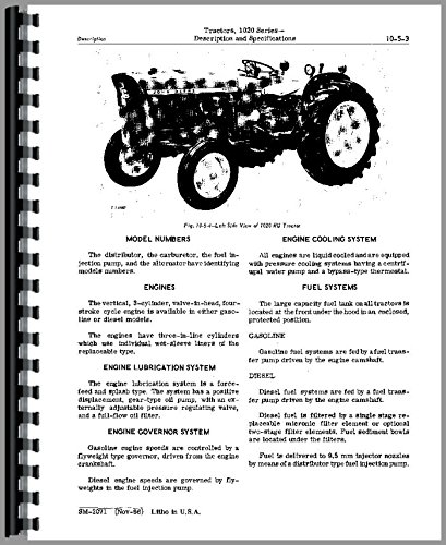 - Service Manual John Deere 1020 1120 1630 Tractor Technical Sn 115,000L Up tm4286