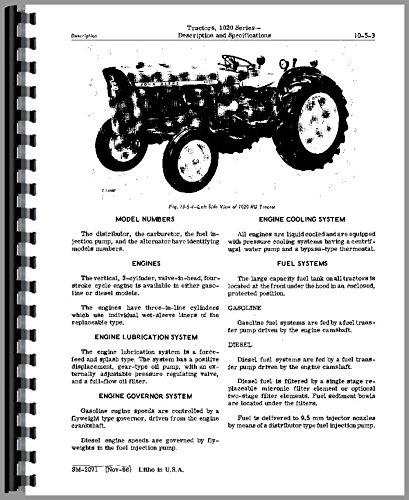 Service Manual John Deere 1020 Series Tractors