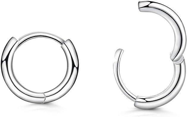 10-14mm Creolen Ohrringe Kreolen Ohrschmuck Huggie Ohrringe für Frauen
