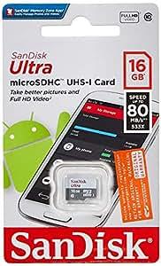 Amazon.com: SanDisk Ultra sdsquns-016g-gn3mn 16 GB, 80 MB/s ...