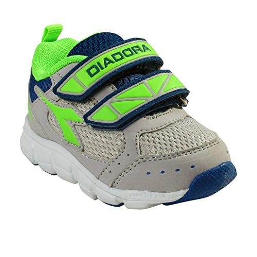 Diadora - Zapatillas de Material Sintético para niño C4258 GRIGIO/BIANCO