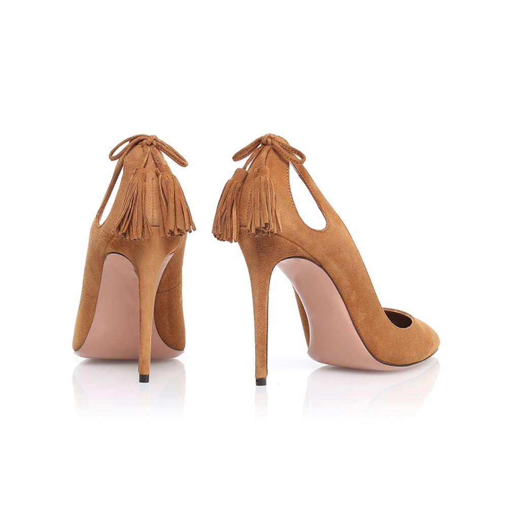 LYY.YY Frauen Spitze Quaste Pumpen Ferse Hollow Pendeln Pendeln Pendeln Stilett Elegant Komm Zusammen Gemütlich Einzelne Schuhe (Absatzhöhe  13Cm) d9d5d5
