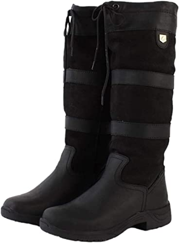 Dublin Ladies River Boots Chocolate Country Equestrian Boots Brown