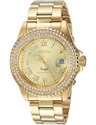 Invicta Womens Quartz Stainless Steel Casual Watch, Color:Gold-Toned (Model: 24614)