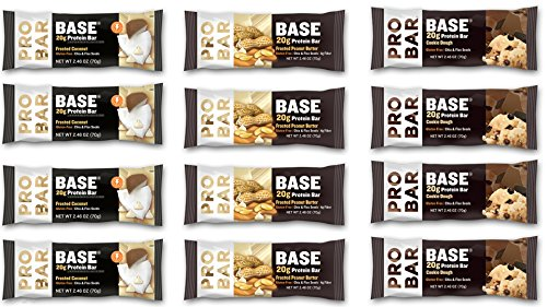 Probar - Base Variety Pack Of 12 - 4 Cookie Dough, 4 Frosted Coconut, 4 Frosted Peanut Butter