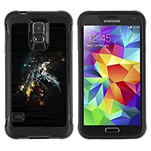 ZFresh Rugged Protective Case Cover Abstract Sci Fi Art - Samsung Galaxy S5