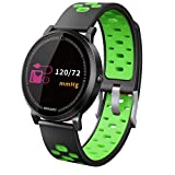 AutumnFall Fitness Tracker,Activity Tracker with Heart Rate Monitor and Sleep Monitor,Sport Pedometer Watch,IP67 Water Resistant Smart Adjustable Strap Bracelet for Women and Men (Green)