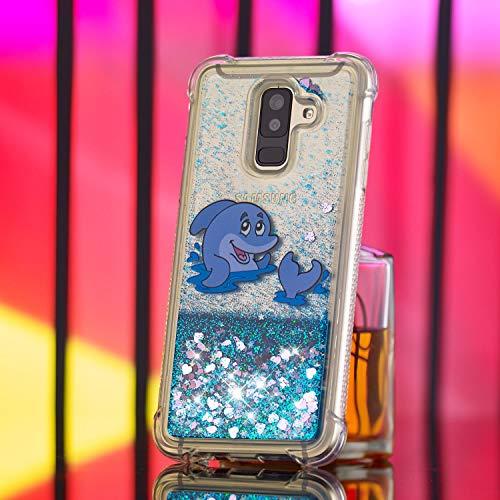 Galaxy A6 Liquide Samsung pour 2018 Coque Briller qZIAXI