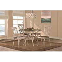 Hillsdale Napier 5 Piece Round Dining Table Set in Aged Ivory