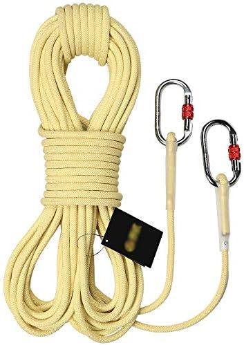 MEI XUクライミングロープ スピードドロップロープスタティックロープクライミングロープピュアケブラーロープ高温安全ロープスピードドロップロープ火災火災ロープ、2スタイル、10サイズ (Color : 8mm, Size : 100M)