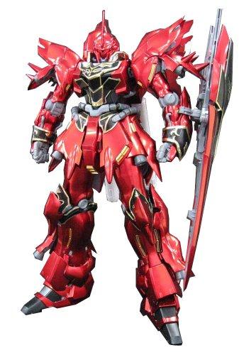 Metallic Titanium Finish - Bandai Hobby MSN-06S Sinanju Ver. KA Titanium Finish Bandai MG Action Figure