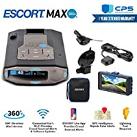 Escort 0100037-1 Max 360C Radar Laser Detector with Wi-Fi + Smart Direct Wire Cord + CPS Extended Warranty & Minolta 1080p Full HD Dash Cam with Night Vision and Motion Detection - Advanced Bundle