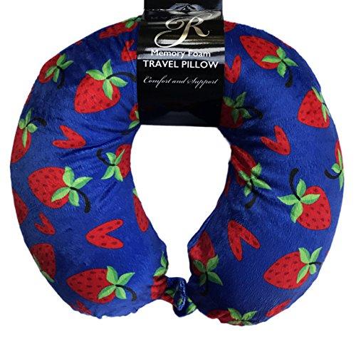 Berry Blast Strawberry Themed Soft Memory Foam Travel Neck Pillow