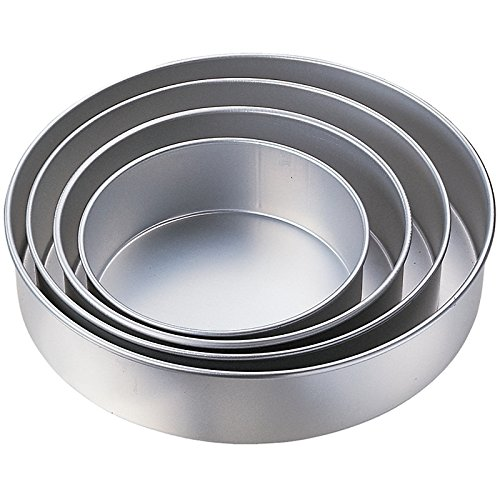 Kabalo 5pc Wedding Cake Tin Pan BAKING BAKE TRAY ROUND LAYER SET (diameters: 24, 26, 28, 32, 36cm) (Cake Pan Set)