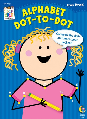 Alphabet: Dot-to-Dot Stick Kids Workbook, Grade PreK (Stick Kids Workbooks)