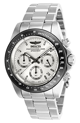 Invicta Unisex-Adult Quartz Watch, Chronograph Display and Stainless Steel Strap 26111