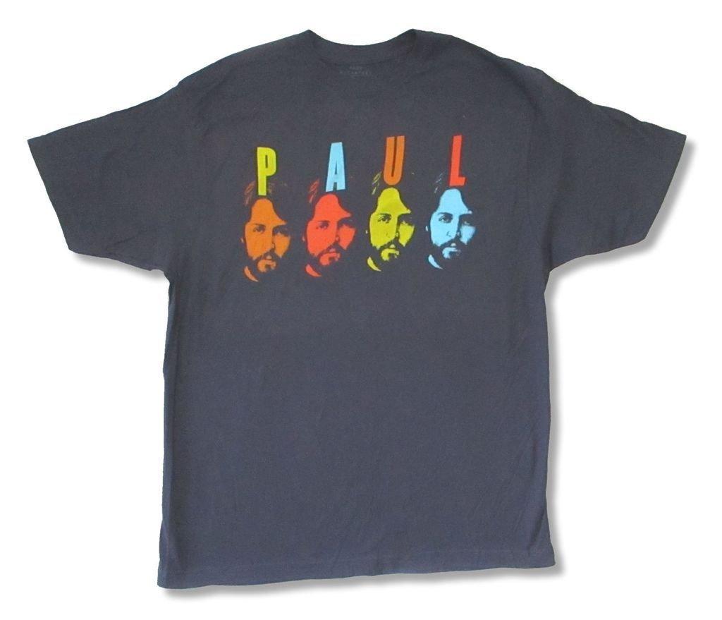 Paul Mccartney Pop Tone Four Faces Blue T Shirt 2968