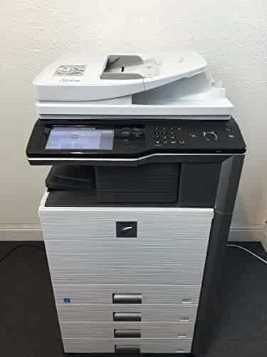 Sharp MX-M453N Copier Printer Scanner Network with 4 drawers staple & hole punch