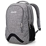 Bolang 8474 Water Resistant Nylon Backpack School College Laptop Bag (Grey)