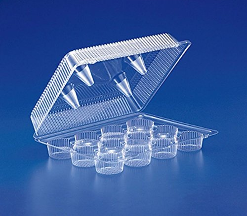Inline 12-Cup Compartment Clear Plastic Standard Cupcake ...