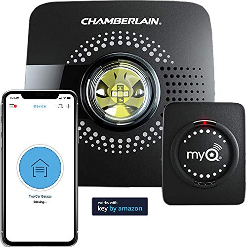(MyQ Smart Garage Door Opener Chamberlain MYQ-G0301 - Wireless & Wi-Fi enabled Garage Hub with Smartphone Control)