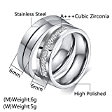 Aeici Couples Promise Rings for Couple Matching Set Love Style Wedding Bands