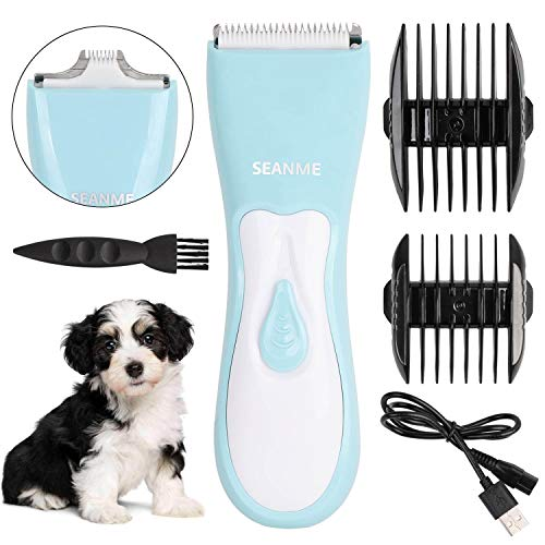 Dog Clippers, 2020 New Upgrade Dog Grooming Clippers Kit with Double Blades Washable Professional Electric Trimmer Set Rechargeable Cat Trimmer Low Noise Shaver for Pets/Dogs/Cats/Rabbits and More Ani