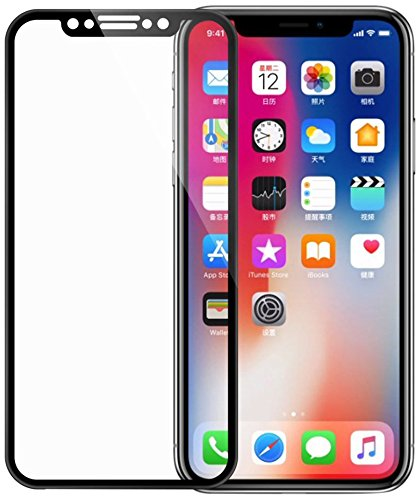 san francisco c2f1e 2ccaf iPhone X Screen Protector, Rheshine iPhone X Tempered Glass 3D Touch Layer  Full Coverage Scratch-Resistant No-Bubble Glass Screen Protector for iPhone  ...