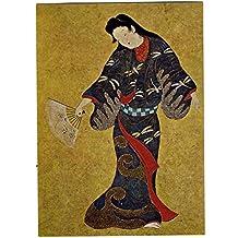 Suntory Museum of Art Dancers Edo Period Postcard Japanese Whiskyy