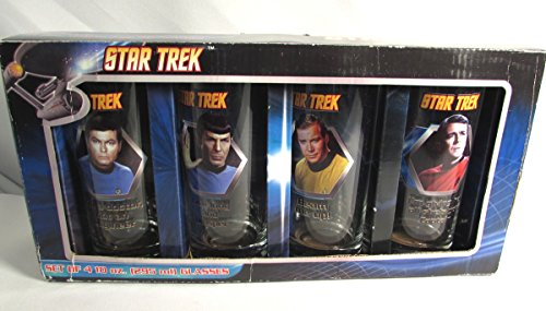 Star Trek Set of 4 Drinking Glasses 10 oz.