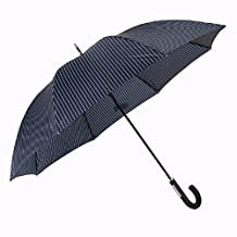 SSBY Japanese large commercial umbrella striped long umbrella straight bar reinforcement windproof double umbrella,A2)