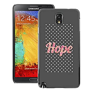 A-type Arte & diseño plástico duro Fundas Cover Cubre Hard Case Cover para Samsung Note 3 N9000 (Hope Pink Glitter Gray Text Motivational)
