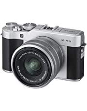 Fujifilm X-A5 Mirrorless Digital Camera - 24 MP with XC 15-45mm F3.5-5.6 OIS PZ Lens, Black