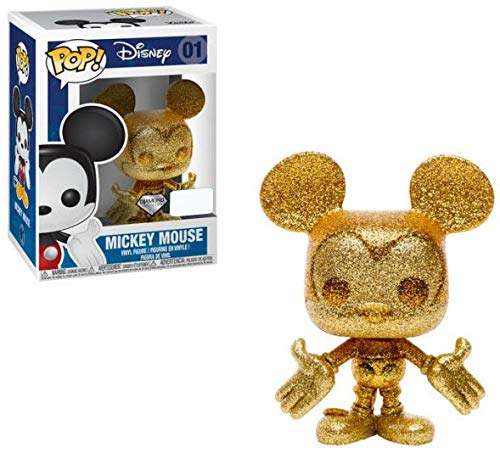 Funko Pop! Disney Mickey Mouse #01 Gold Diamond Collection (Barnes & Noble (Exclusive Mickey Mouse)