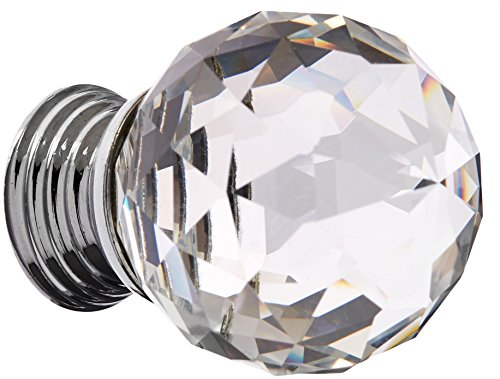 Abbott Collection Cut Crystal Ball Knob, Clear - Crystal Cut Glass Collection