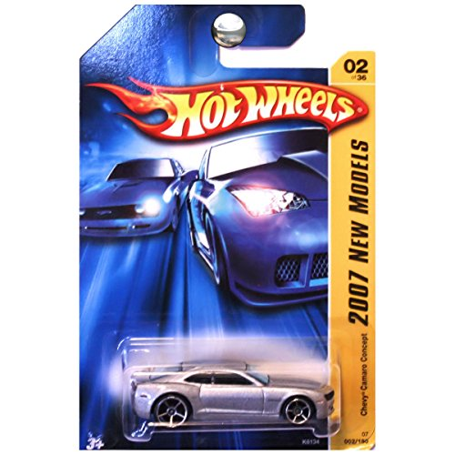 Hot Wheels 2007 New Models #2 Chevy Camaro Concept Silver Chrome Base #2007-2 Collectible Collector Car Mattel 1:64 Scale Collectible Die Cast Car ()