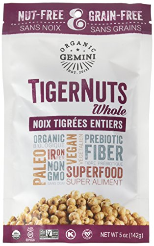 Price comparison product image Organic Gemini TigerNuts Gluten Free, Paleo, Raw Snack, Original, 5 oz