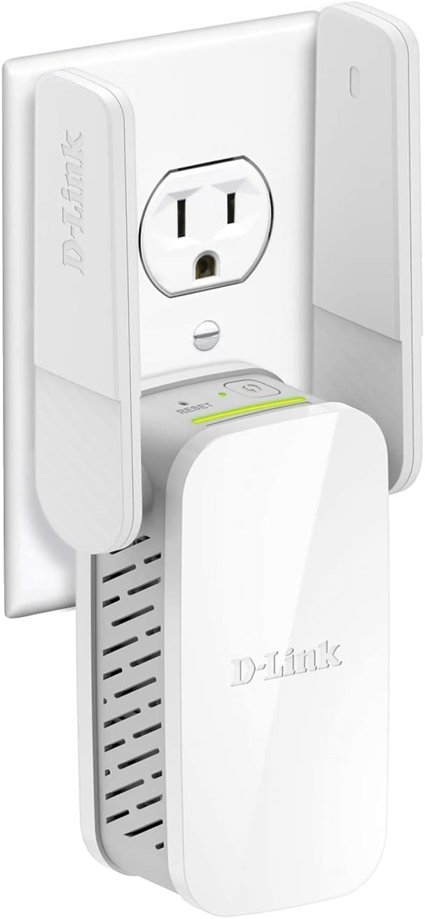 D-Link WiFi Range Extender, AC1200 Plug In Wall Signal Booster, Dual Band Wireless Repeater Access Point for Smart Home and Alexa Devices (DAP-1610-US),white