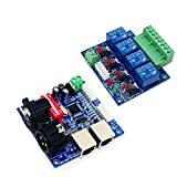 4CH Relay switch DMX512 Controller Relay Output DMX Relay Control 4 Way Relay Switch(max 10A) and High Voltage Led Lights